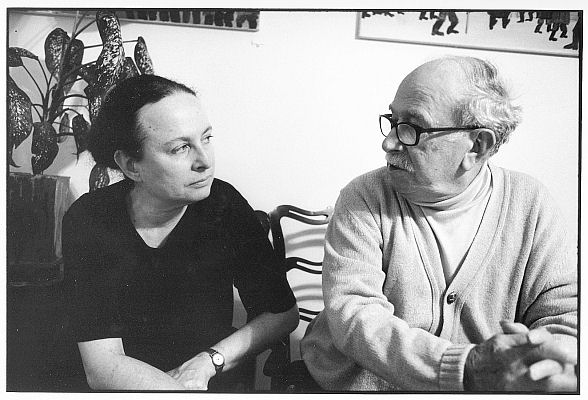 Barbara Kirshenblatt-Gimblett and her father Mayer Kirshenblatt.